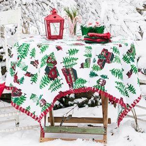 April Cornell Christmas Village Crochet Tablecloth